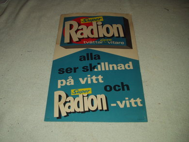 "Reklameplakat for                  "" Radion""."