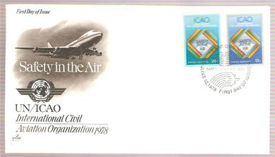 1978, INTERNATIONAL CIVIL AVIATION ORGANIZATION 1978, FDC FRA UNITED NATIONS.