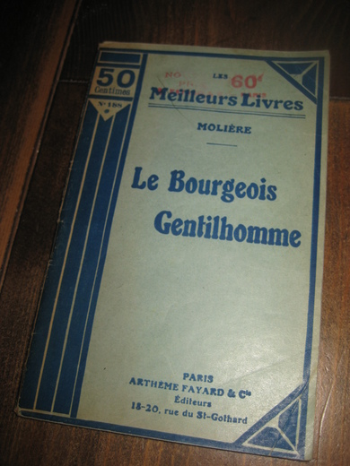 MOLIERE: LE BOURGEOIS GENTILHOMME.