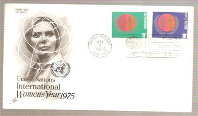 1975, 9. MAI, WOMEN'S YEAR 1975, FDC UNITED NATION,