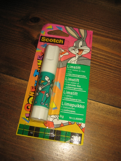 Uåpna pakke Scotch limstift, 3m, 1996 Warner Bros.