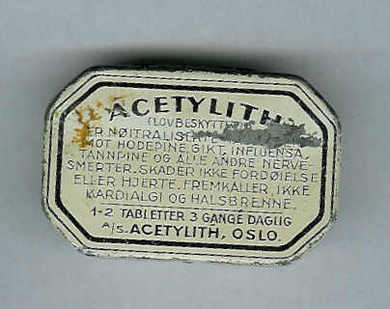 ACETYLITH tabletter fra ACETYLITH, Oslo.