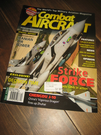 2009,Vol. 09, no 06, December 2008- January 2009 , Combat AIRCRAFT.
