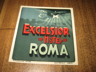 EXCELSIOR HOTEL, ROMA. 60 tallet.