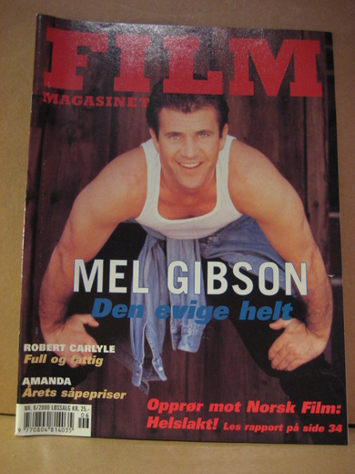 2000,nr 006,                                 FILM MAGASINET. MEL GIBSON, AMANDA.
