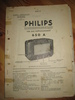 Phillips sercice dokumentasjon for 650A. 1938.