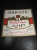 GARROU CALIFORNIA CLARENT WINE.