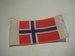 Norsk flagg, ca 4*3 cm stort.
