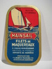 MAINSAIL FILETS DE MAQUEREAUX, fra BUØEN PACKING CO, STAVANGER.