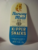 Norway Maid KIPPER SNACKS, fra United Sardines Factories, Bergen.